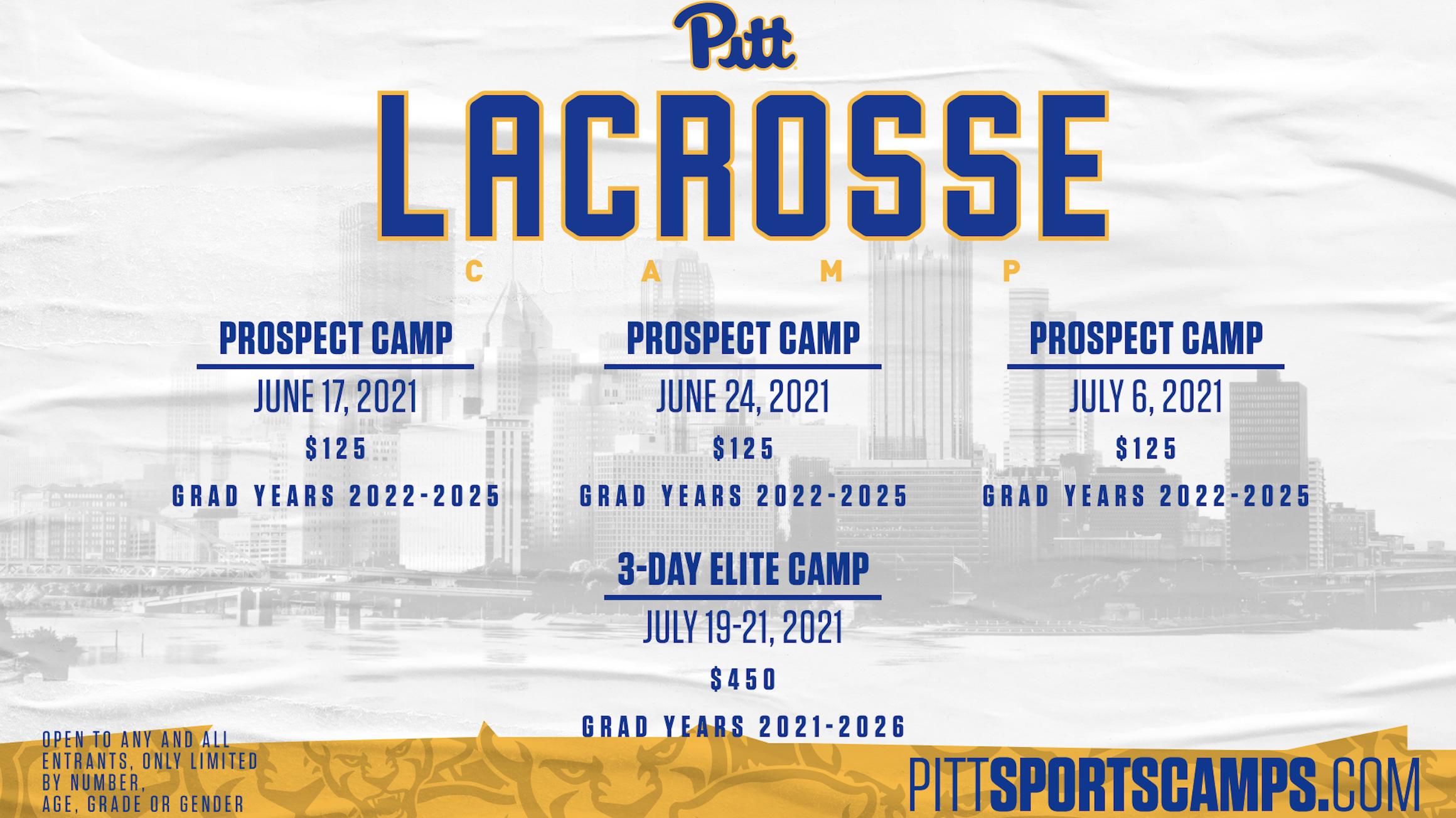 Pitt Lacrosse Camp Dates Summer 2021
